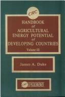 Cover of: CRC handbook of agricultural energy potential of developing countries