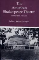 Cover of: The American Shakespeare Theatre, Stratford 1955-1985 | Roberta Krensky Cooper
