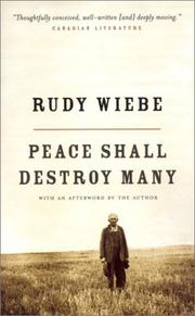 Cover of: Peace Shall Destroy Many