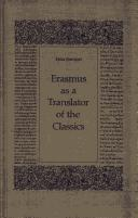 Cover of: Erasmus as a translator of the classics