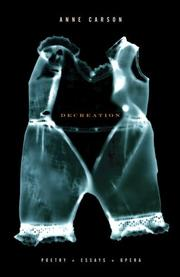 Cover of: Decreation