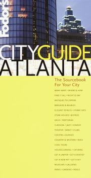 Cover of: Fodor's CITYGUIDE Atlanta | Fodor's
