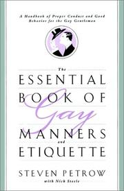 Cover of: The essential book of gay manners and etiquette