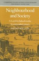 Cover of: Neighbourhood and society | Jeremy Boulton
