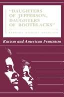 "Cover of: ""Daughters of Jefferson, daughters of bootblacks"""