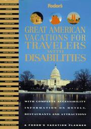 Cover of: Great American Vacations for Travelers with Disabilities