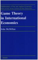 Cover of: Game theory in international economics