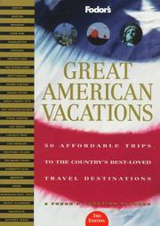 Cover of: Great American Vacations