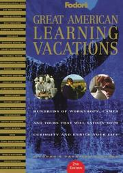 Cover of: Great American Learning Vacations