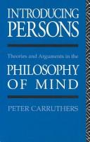 Cover of: Introducing persons | Peter Carruthers