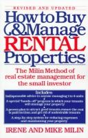 Cover of: How to buy and manage rental properties