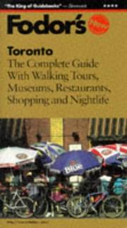 Cover of: Toronto | Fodor's
