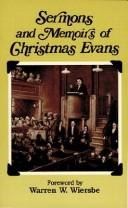 Cover of: Sermons and memoirs of Christmas Evans
