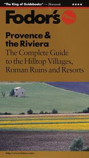 Cover of: Provence & the Riviera