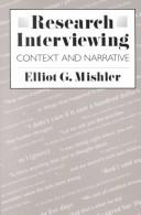 Cover of: Research interviewing | Elliot George Mishler