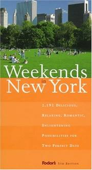 Cover of: Weekends in New York | Karen Cure
