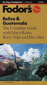 Cover of: Belize & Guatemala