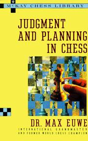 Cover of: Judgment and planning in chess