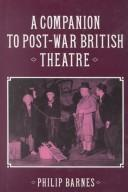 Cover of: A companion to post-war British theatre