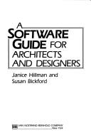 Cover of: software guide for architects and designers | Janice Hillman