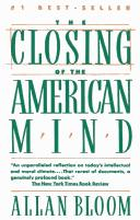 Cover of: The Closing of the American Mind