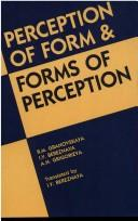 Cover of: Perception of form & forms of perception | R. M. GranovskaiНЎa