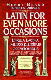 Cover of: Latin for even more occasions | Jean Little