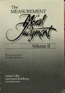 Cover of: The measurement of moral judgment | Anne Colby