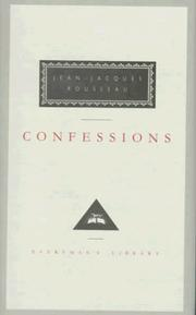 Cover of: Confessions by Jean-Jacques Rousseau