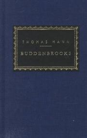 Cover of: Buddenbrooks by Thomas Mann