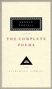 Cover of: Poems of Andrew Marvell | Andrew Marvell