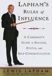 Cover of: Lapham's Rules of Influence