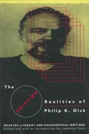 Cover of: The Shifting Realities of Philip K. Dick