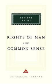 Cover of: Rights of man ; and, Common sense | Thomas Paine