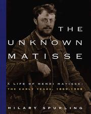 Cover of: The unknown Matisse