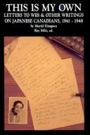 Cover of: This is my own | Muriel Kitagawa