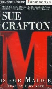 Cover of: M is for Malice (Sue Grafton)