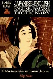 Cover of: Random House Japanese-English English-Japanese dictionary