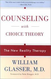 Cover of: Counseling with Choice Theory | William Glasser
