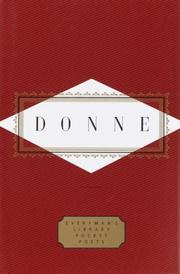 Cover of: Donne