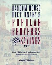 Cover of: Random House dictionary of popular proverbs & sayings | Gregory Titelman
