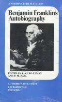 Cover of: Benjamin Franklin's autobiography