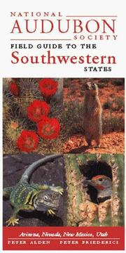 Cover of: National Audubon Society Field Guide to the Southwestern States
