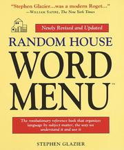 Cover of: Random House Word Menu by Stephen Glazier