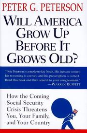 Cover of: Will America grow up before it grows old?