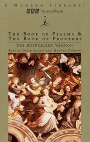 Cover of: The Book of Psalms and The  Book of Proverbs