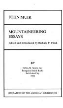 Cover of: Mountaineering essays