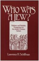 Cover of: Who was a Jew?