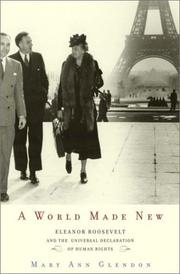 Cover of: A World Made New | Mary Ann Glendon