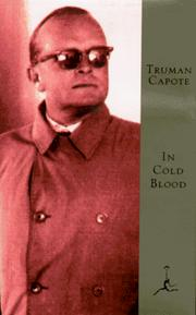 Cover of: In cold blood | Truman Capote